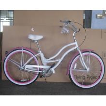 "Rear Factory Inner 3 Speed 26"" Beautiful Girl Beach Bicycle (FP-BCB-C041)"