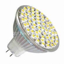 12 voltios MR16 48 3528 SMD 2700k 6000k Bombilla LED con cubierta
