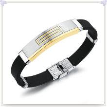 Joyas de acero inoxidable pulsera de goma pulsera de silicona (lb229)