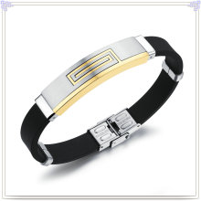 Stainless Steel Jewelry Rubber Bracelet Silicone Bracelet (LB229)