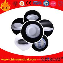 20*3cm Dimension White Color Iron Enameled Vegetable Plate