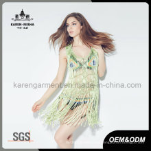 Mode Fringe Handknit Tank Bademode / Kleid für Frauen