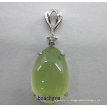 Пренит Серебряный кулон ювелирные изделия (GP01298)