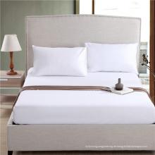 Beliebteste Bettwäsche einfarbig weiß Spannbetttuch (WSFI-2016025)