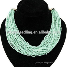 2014 fanshion high quality Bohemia ethnic texture bead cheap statement necklace