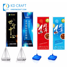 Factory direct sale custom printing advertising beer banners with display stand