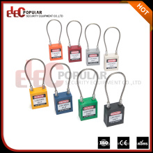Elecpopular New Products 2017 Custom Brands Cable Shackle Long Body Safety Padlock CE ROHS OSHA CERTIFICATION