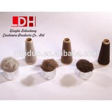 Fibra fina de cabelo preto e branco marrom natural de algodão branco de alashan
