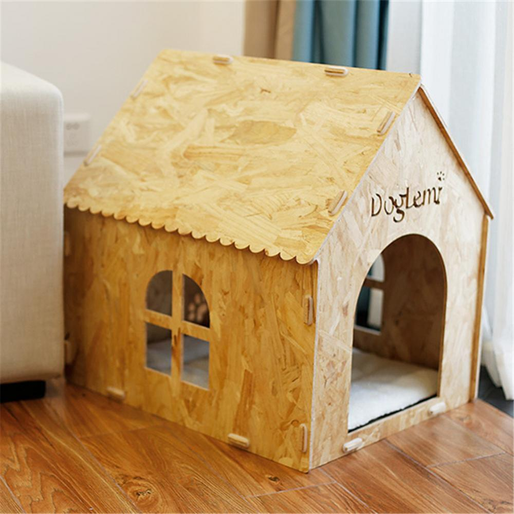 Pet House Indoor Wooden Kennel untuk Anjing