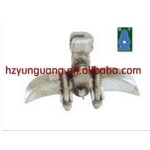 ligne de puissance électrique raccord matériel ligne aérienne raccord collier en alliage d'aluminium pince de serrage pince de suspension