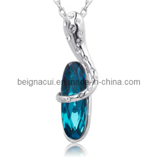 Sw Elements Crystal Indicolite Color Latest Stone Necklace