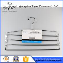 Cintres de fil de fer mince, Pvc enduit Bulk Wire Hangers