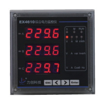 Instrumentos de medição Ex4610 Medidor trifásico de energia elétrica de várias funções