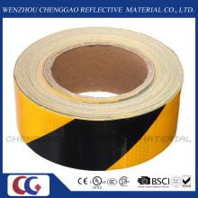 Black & Yellow Stripe Reflective Hazard Self Adhesive Tape (C3500-S)