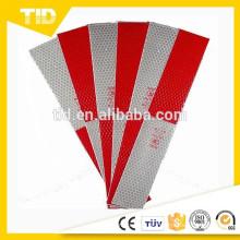 Etiquetas reflexivas da fita do branco 2x12 da segurança vermelha para reboques