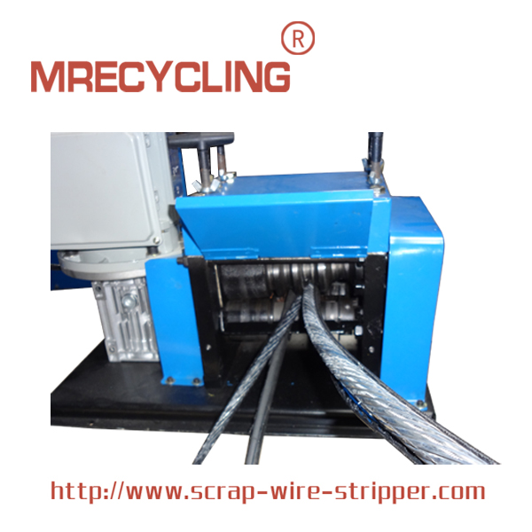 blue rock wire stripping machine