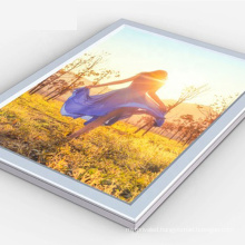 High quality aluminum profile snap frame 3d logo menu display slim led light box