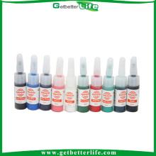 Set de 10 botellas de tinta de tinta profesional del tatuaje