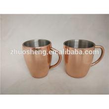Moscow mule for vodka mug, colourful coating copper mug