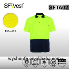 T-shirt de sécurité polo haute visibilité vêtements de travail de sécurité vêtements de sécurité chemises à haute visibilité tissu en polyester