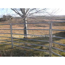Horse Panel Cattle Yard Panel/Hot Dipped Galvanized 6 Bars Cattle Panels/6 Bar Oval Rail Portable Cattle Yard Panels/Steel Cattle Round Yard Systems