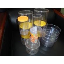 Folha transparente do PVC da espessura de 400 micron usada para o recipiente redondo