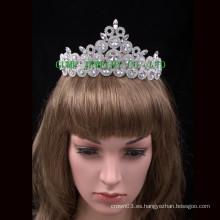 Tiara de la princesa de la corona personalizada al por mayor de la reina