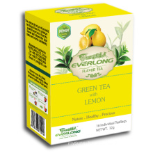 Lemon Flavored Green Tea Pyramid Tea Bag Premium Blends Organic & EU Compliant (FTB1502)