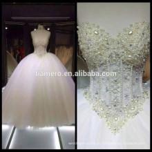 1A213 Sweet Heart Heavy rebordear de vestido de novia de hombro / vestido de novia