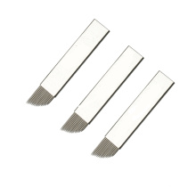 Professional Microblading Supplies Curved shape Disposable Flexible Microblading Needles Blades Tool