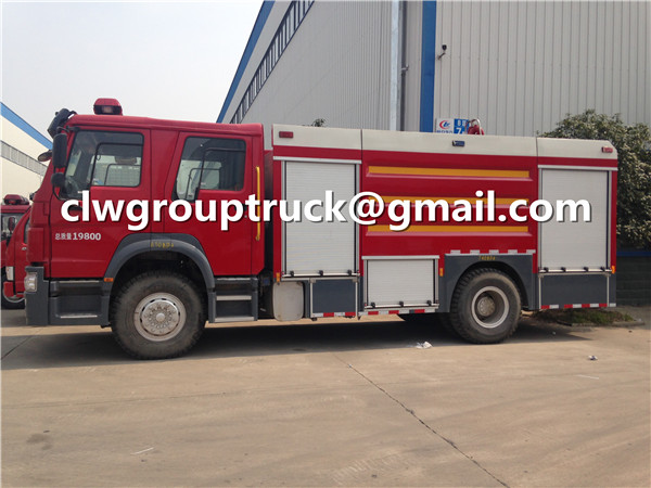 Double Cabin Fire Fighting Vehicle