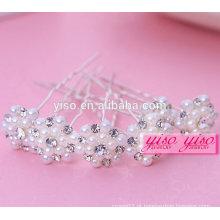 Presente de venda quente senhoras florais noiva moda feminina pino de cabelo