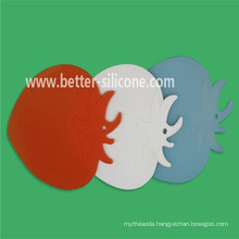Stawberry Shaped Slicon Rubber Beverage Coaster
