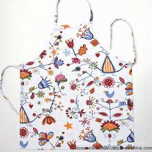 Custom Made algodão floral impressão padrão de flor branco cozinhar mulheres babador