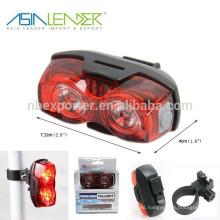 2pcs 1W LED batería operado LED luz de la bici
