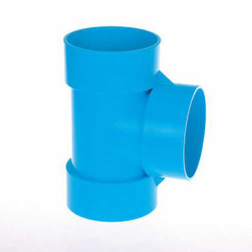 UPVC JIS K-6739 Drainage Tee Blue Color