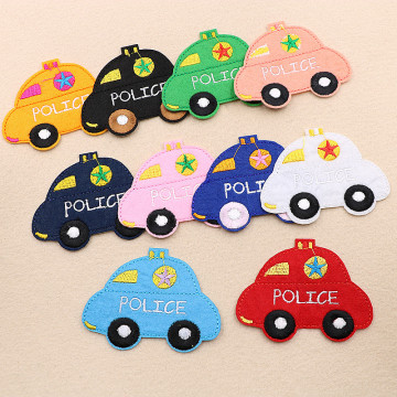 Polizei gestickte Patches Auto Cartoon Patches Tasche Hut