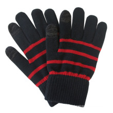 Men′s Fashion Stripe Knitted Winter Warm Touch Screen Gloves (YKY5463)
