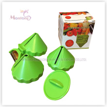kitchen Multi-Purpose Stainless Steel ABS Fruit Peeler (7.8*5.8CM)