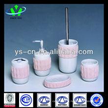 Artigo de casa de banho cerâmica rosa 5pcs