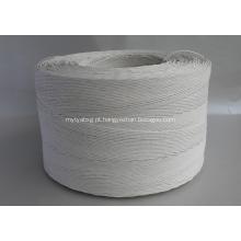 rolo de corda de papel torcido cor branca