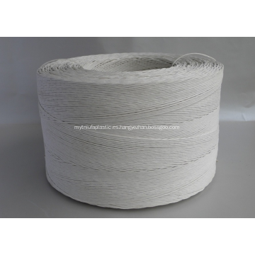 Rollo de cuerda de papel trenzado color blanco