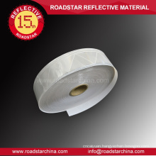 Highly visible cold resistant reflective PVC tape