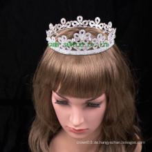 Blumenentwurfsfrauen tiara reizend rhinestonekrone