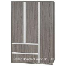 3D Finish Wooden Bedroom 3 portes combiné armoire (WB76)