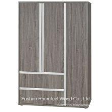 3D Finish Wooden Bedroom 3 Door Combination Wardrobe (WB76)