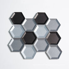 Wall Decorative Cold Spray Series Beveled Edge Mosaic Tile Sheets