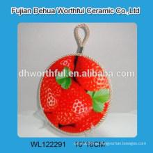 Sostenedor de cerámica del pote de la venta caliente con diseño de la fresa