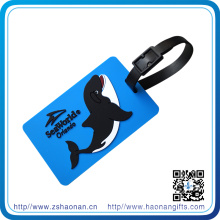 Custom Embossed Logo Luggage Tag with Plastic Hanger