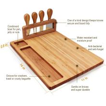 Bamboo Cheese Board Meat Charcuterie Platter Serving Tray